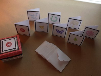 3x3 Mini Notes, Envelopes, and Box